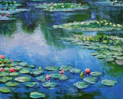 blog. activist monet lily pad paintings